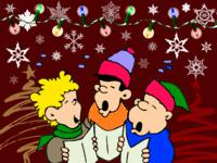 Carolers Singing Christmas wallpaper