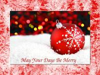 Christmas Ornament in Snow wallpaper