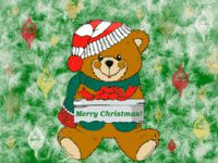 Christmas Present Bear wallpaper