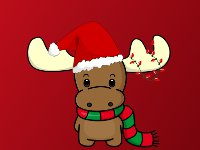 Santa Moose Christmas Wallpaper
