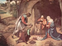 Giorgione Nativity Painting wallpaper