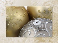 Gold Ornaments Christmas wallpaper