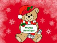 Happy Holidays Bear Christmas wallpaper