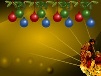 Manger Glow Christmas wallpaper