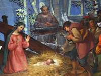 Francesco Landonio Presepe Nativity wallpaper