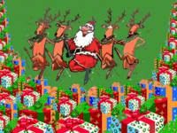 Santa Dancing Christmas wallpaper
