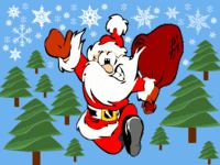 Santa Running Christmas wallpaper