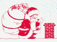 Santas List Christmas wallpaper