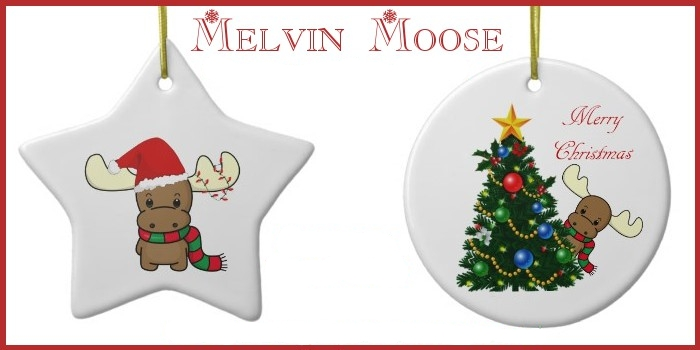 melvin moose christmas ornaments