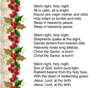 printable christmas carol lyrics
